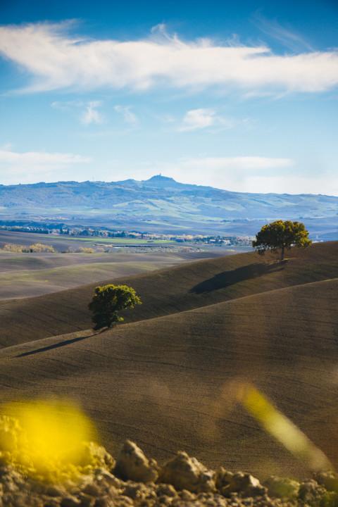 Hügellandschaft in der Toscana