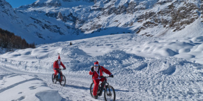 Santa Clauses on the road